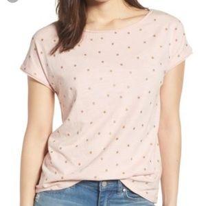 Boden Natalie Pink Gold Star Short Sleeve Tee